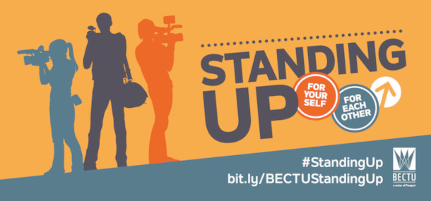 BECTU London Production Division Standing Up logo